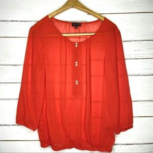 The Limited Blouse Coral Sheer M